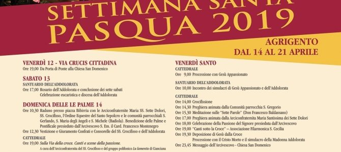 Programma Settimana Santa 2019